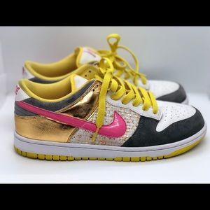 Nike Dunk Athletic Shoes 314141-162 Pink Metallic
